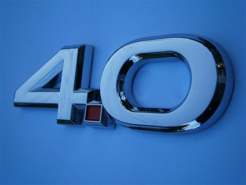 Mustang V6 4.0 Badge.jpg http://www.stangmods.com/4-0-Chrome-Mustang-Emblems-p/4350.htm